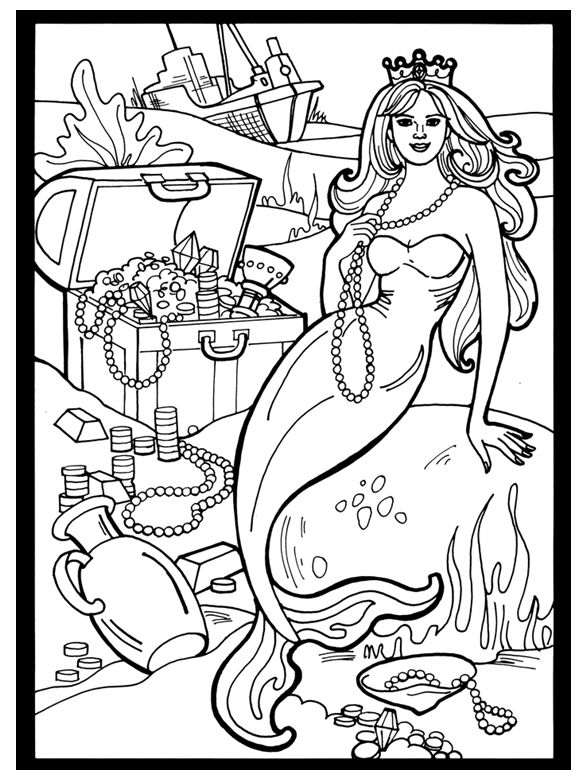 welcome to dover publications mermaids stained glass coloring book