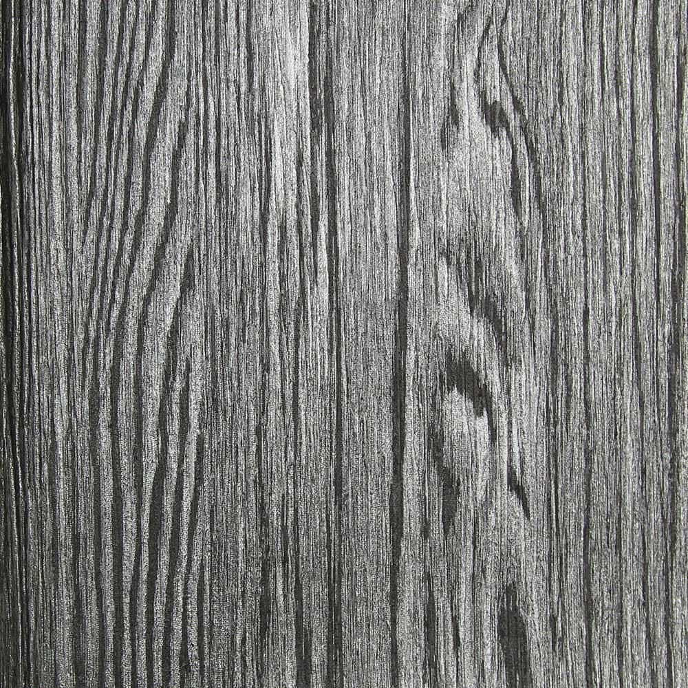 Dark Grey And Silver Textured Wood Grain Wallpaper By Julian