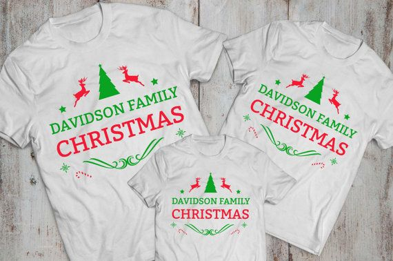 Matching Christmas Shirts For Family.Pin On Set Family
