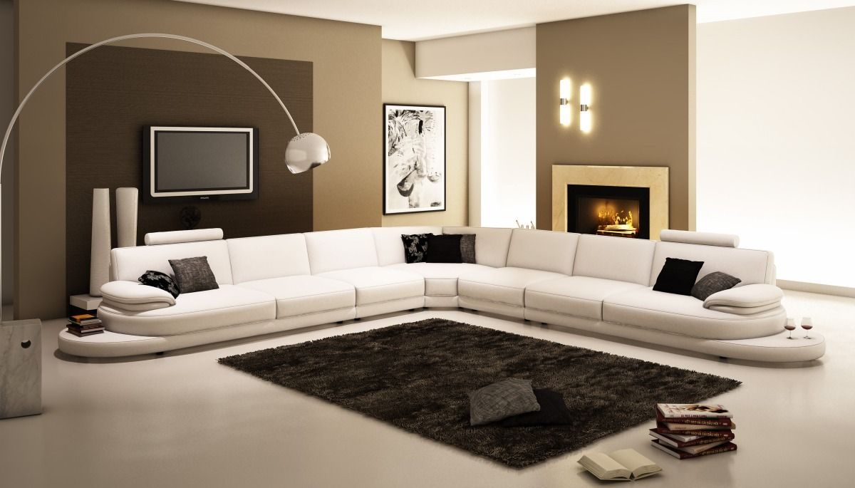 modern leather sectional sofas. Stylish Design Furniture - 954 Contemporary Italian Leather Sectional Sofa, Modern Sofas