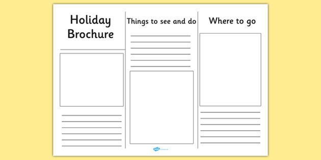 Editable holiday brochure template holiday brochure for Brochure template for kids