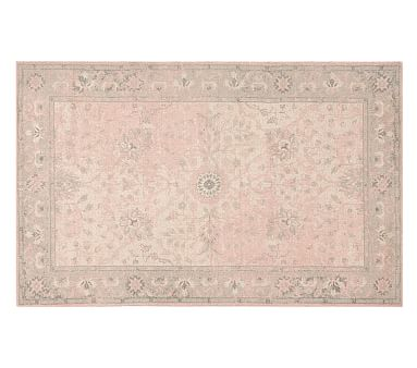 Monique Lhuillier Antique Rug Blush Pink 8x10 Monique