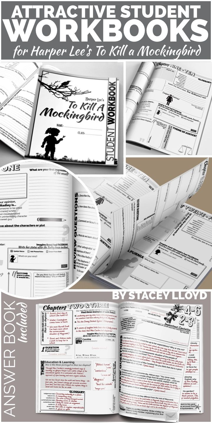 to kill a mockingbird student workbooks be cool to kill a do you ever get bored teaching literature by just reading the novel and then doing chapter