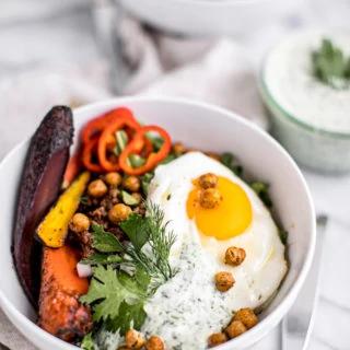 Healthy Turkish Breakfast Bowls with Herbed Yogurt (Gluten-Free)