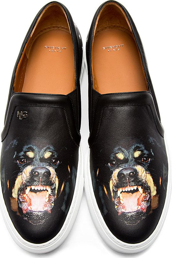 Givenchy - Black Leather Rottweiler Skate Shoes  e51fc38ed914a