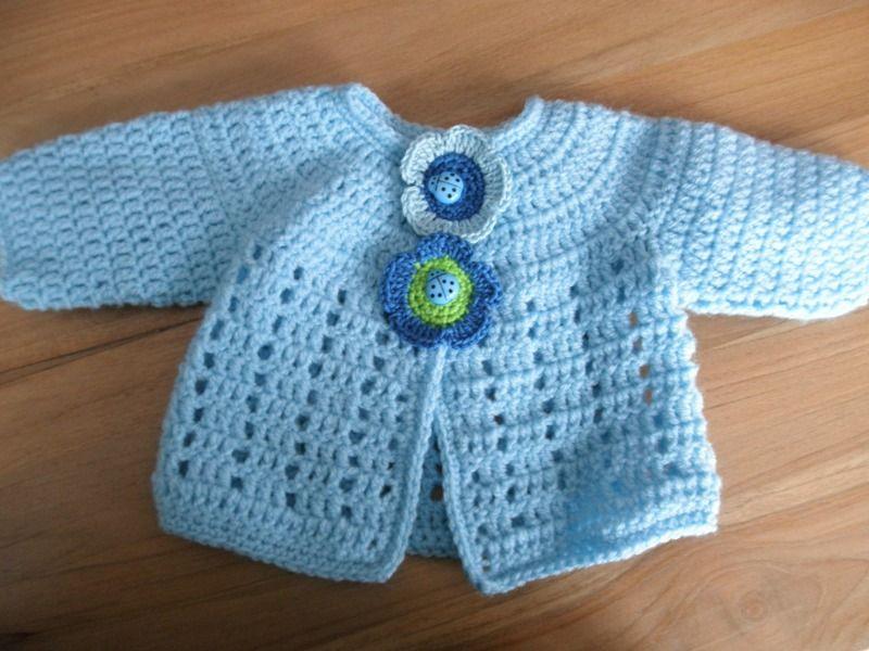 Zx Haakpatroon Babyvestje Met Prachtige Pas Weggeven Crochet
