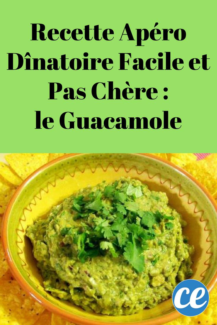 recette apéro dînatoire facile et pas chère : le guacamole | recette