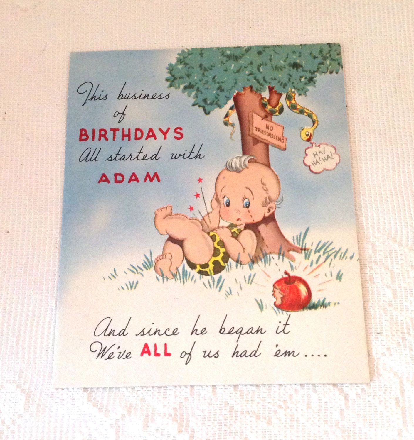 Vintage 1950s Cute Birthday Card Collectible Greeting Cards Retro