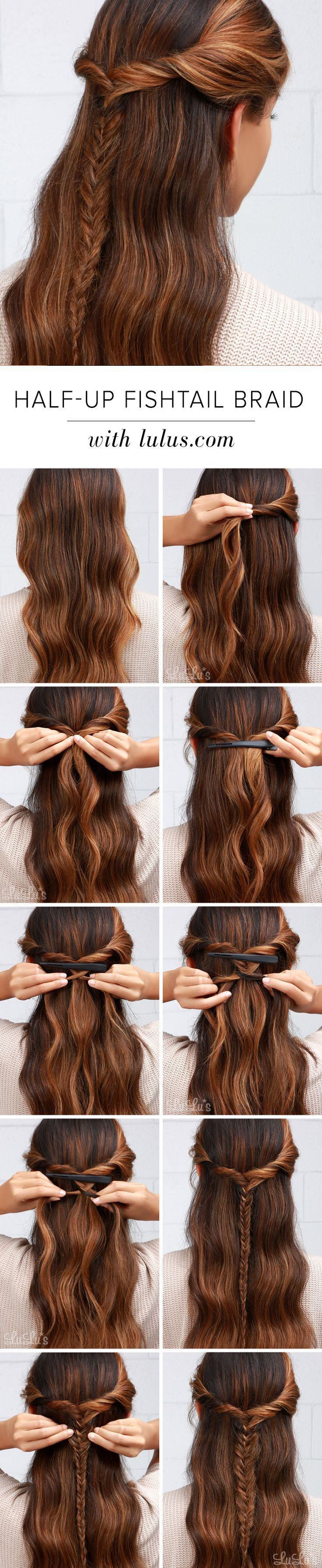 Lulus howto halfup fishtail braid fishtail braids fishtail and