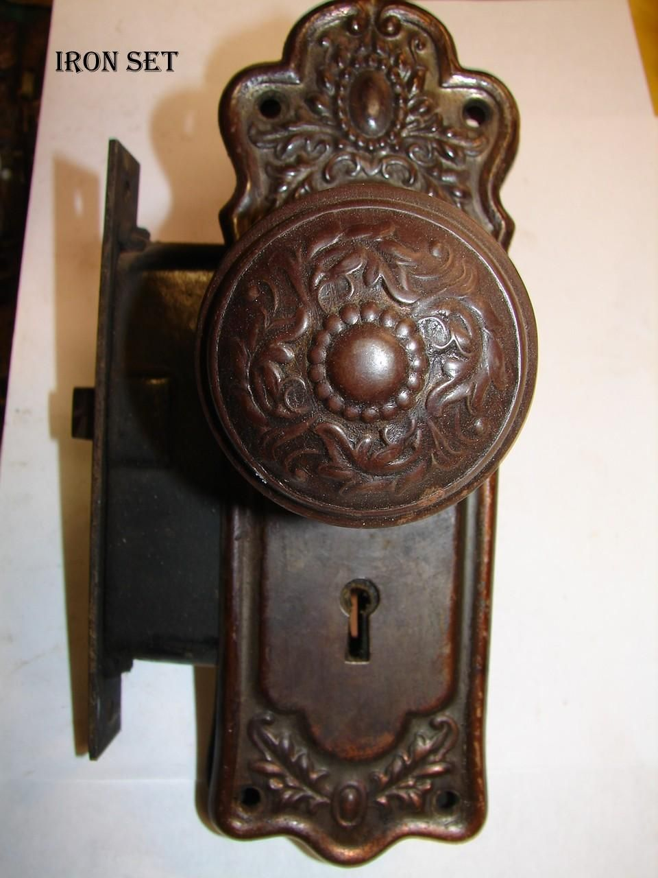 Antique Door Locks vintage door knob images | spindles & set screws || door knob back
