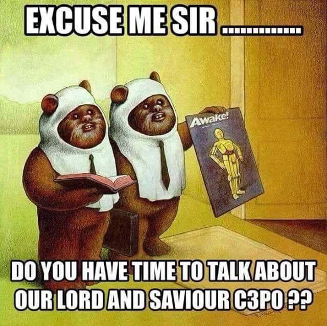 Deze cartoon toont de Ewoks uit de film Star Wars. Ik heb dit vastgezet omdat ik ... - BildersPin #geekculture