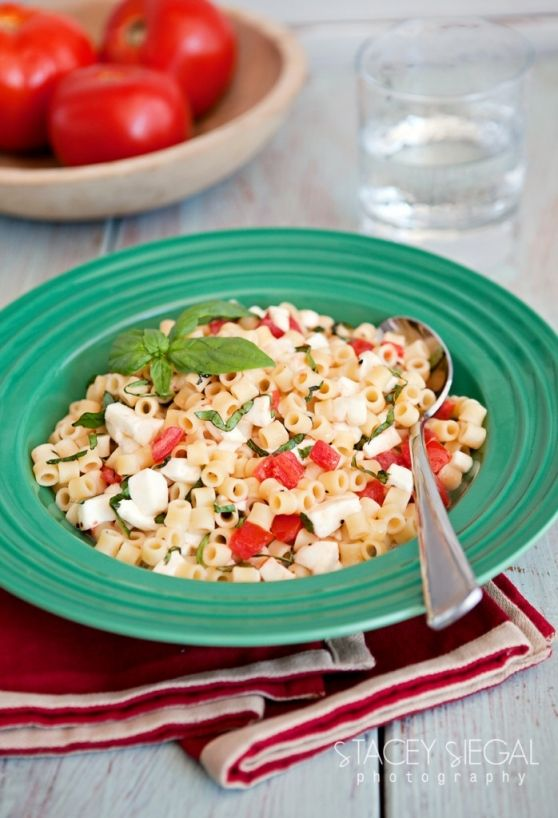 {Pasta Challenge} @Stacey Siegal | Kitchen Serendipity's fresh and gorgeous Ditalini Caprese dish.