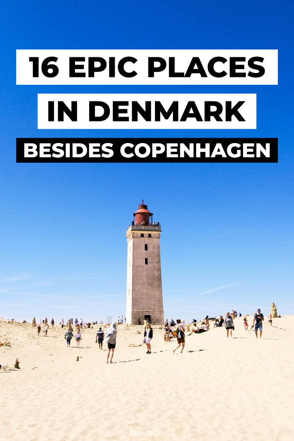 16 Epic places in Denmark, besides Copenhagen. 16 Dream Destinations in Denmark you need to visit, besides Copenhagen. Denmark has so many historic and beautiful places to go to. Copenhagen may be the main hub, but the rest of the country should be explored just as equally. From amazing sloping sand dunes & the world just nestling in the middle of a lake. You need to visit some of Denmarks other amazing places. | #Denmark #DenmarkTravel #Travel | Padkos.co