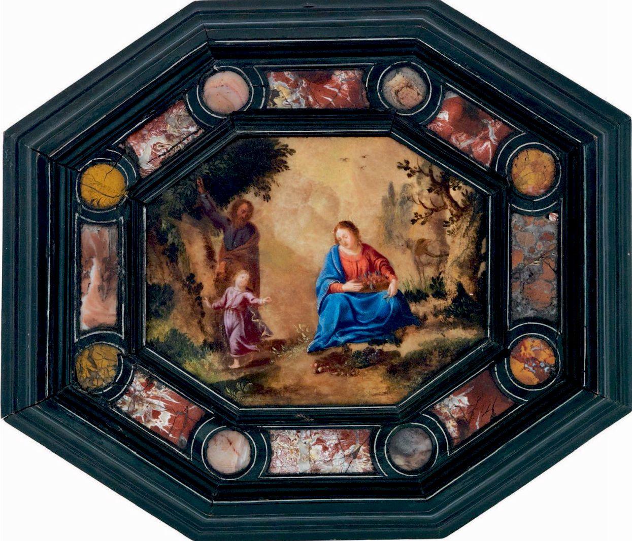 La Sainte Famille Albatre Italie 17eme Jpg Cornici Pietre Dipinte Decorazioni