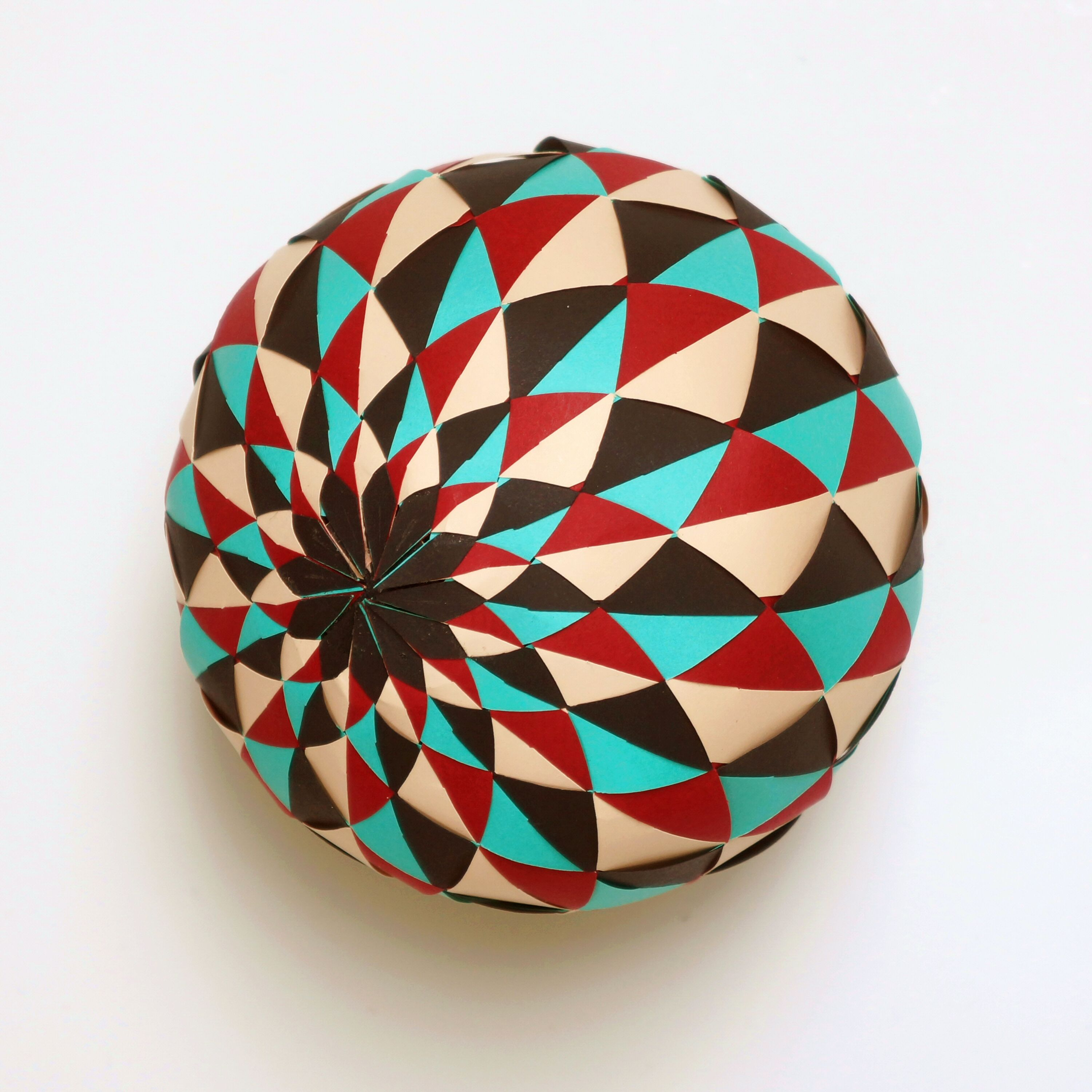 Sphere #014 with Triangles   Template, Origami and Papercraft - photo#14