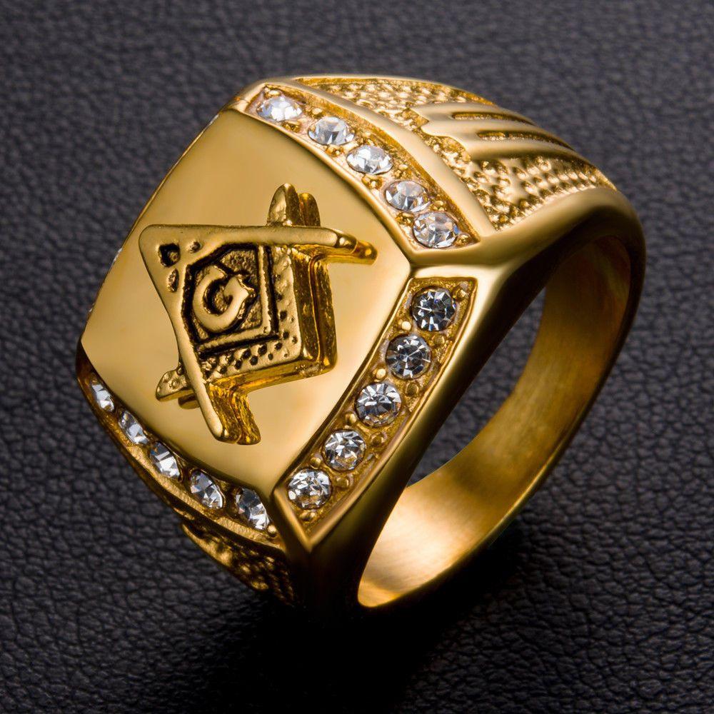 eda2081d05bc9 5.5AUD - Durable Men's Gold Stainless Steel 316L Masonic Freemason ...