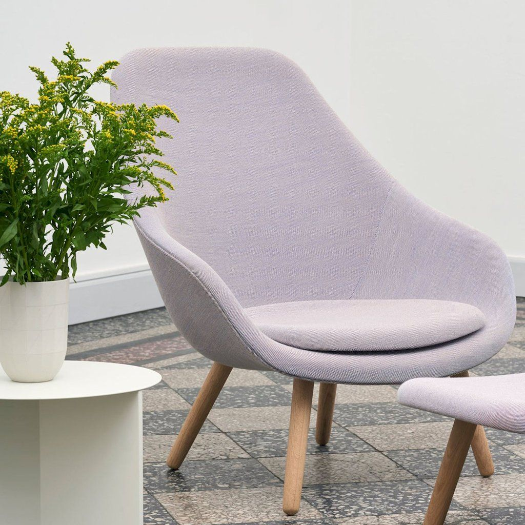 Hay About A Lounge Chair High Back Available In An Array Of Colors In Canvas Or Leather Haydesign Decoracao