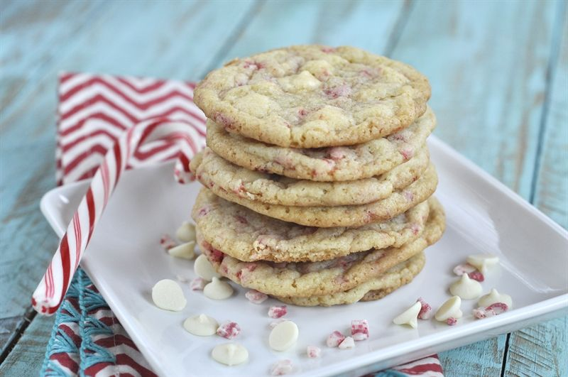 Your Homebased Mom: Minty White Chocolate Cookies