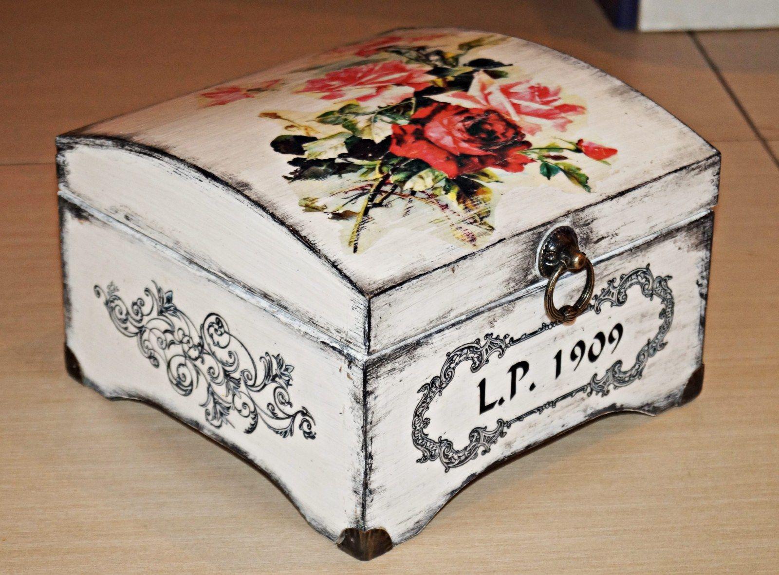 Decoupage Box Simona Jasinkova Caixa Mdf Caixas Decoradas E Caixa