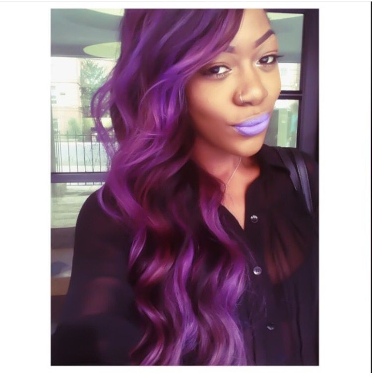 Purple Hair Adore Violet Gem