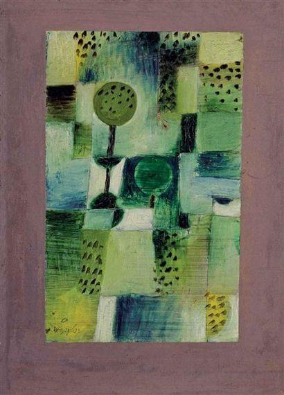 Paul Klee, Parkbild bei Regen davidcharlesfoxexpressionism.com #paulklee #expressionist #expressionism #abstractartist