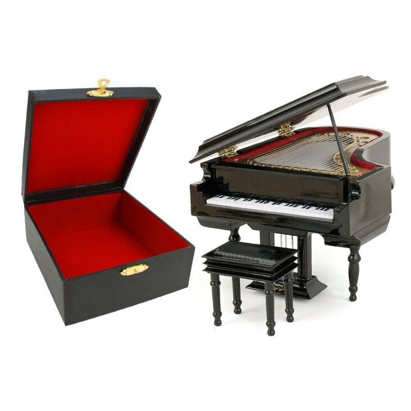 piano tabouret 10cm belle collection de miniature d. Black Bedroom Furniture Sets. Home Design Ideas