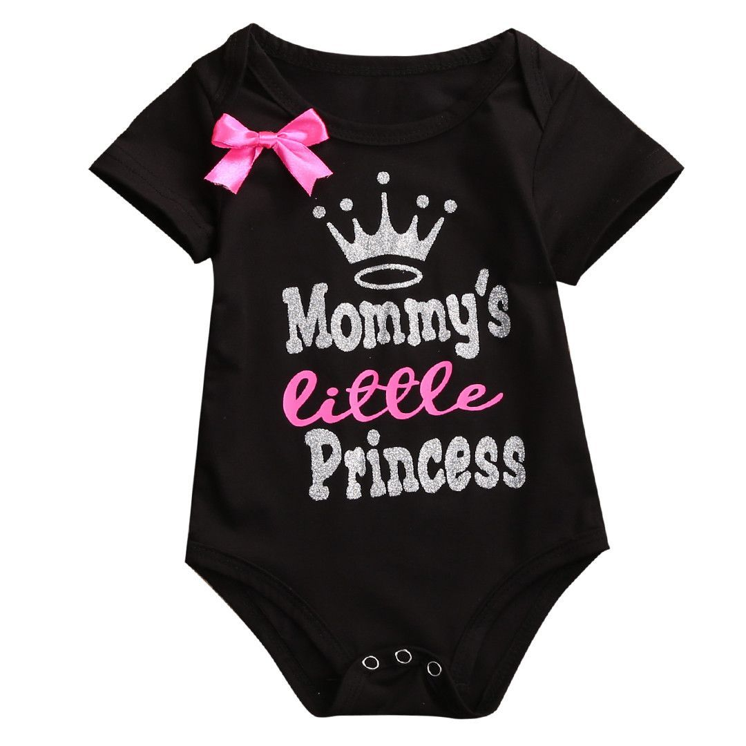 Daddy's Little girl letter Clothes Newborn Infant Baby Girls Bodysuit  Jumpsuit Boy Girl Baby Clothing Clothes Outfits