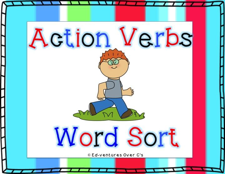 Action Verb Word Sort Verb words, Action verbs and Visual cue - action verbs