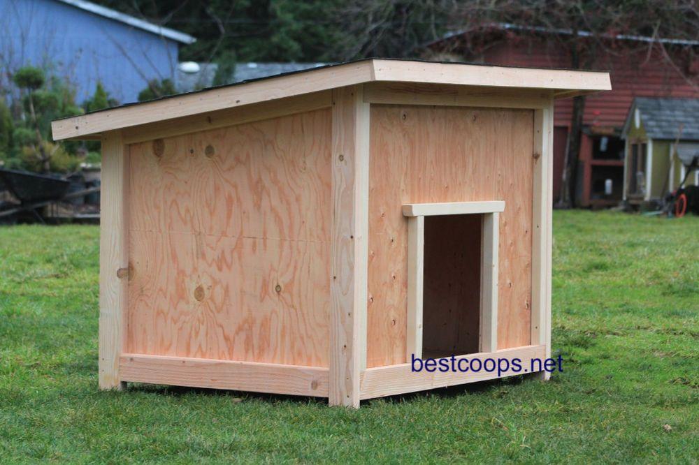 Large Dog House Plan 2 Home Garden Home Improvement Building Har Dog House Plans Large Dog House Plans Large Dog House