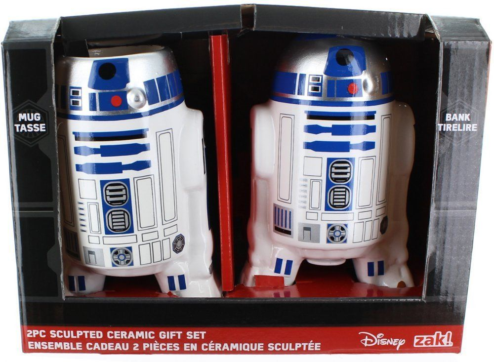 Collectable Mugs Star Wars R2d2 Sculpted Ceramic Gift Set Mug And Bank Ltp With Images Ceramic Gifts Mugs Ceramics