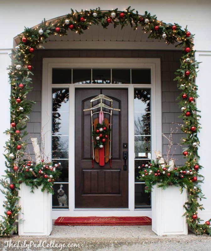 Decorating Double Front Doors Home Depot Christmas Front Door