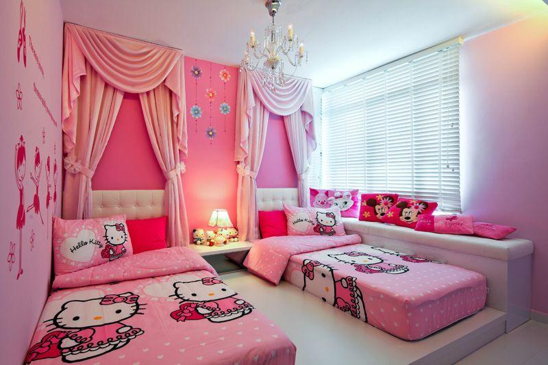 Hello Kitty Bedroom Girls Bedroom Makeover Hello Kitty Bedroom