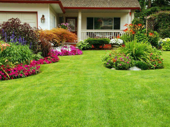 le jardin paysager tendance moderne de jardinage massif de fleurs jardin. Black Bedroom Furniture Sets. Home Design Ideas