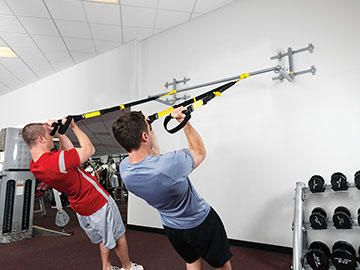 Trx® suspension trainer. for garage gym. my gym just has that circle