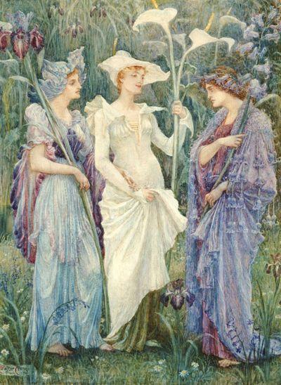 "Walter Crane - ""Ensigns Of Spring"""