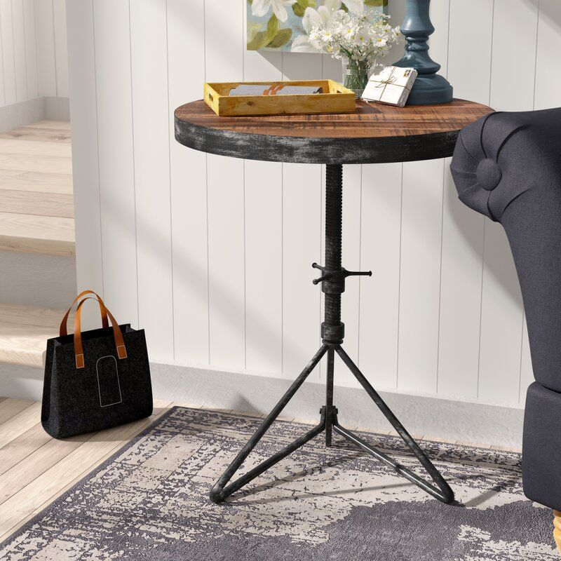Fromberg Adjustable Round End Table in 2020 End tables
