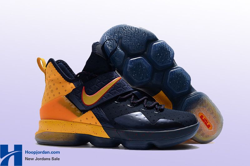 Nike-LeBron-14-Cavs-Alternate-PE-Navy-Yellow  20eb7c27fd