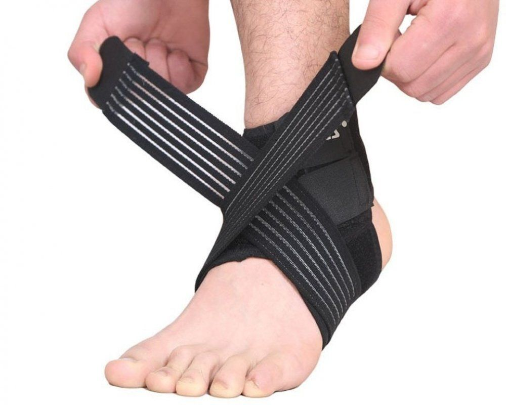 Elastic Strap Ankle Support Brace Protector Km Bazaar Ankle Support Heel Protector Braces Price