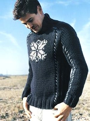 Knit A Mans Snowflake Sweater Free Knitting Pattern Mensweater