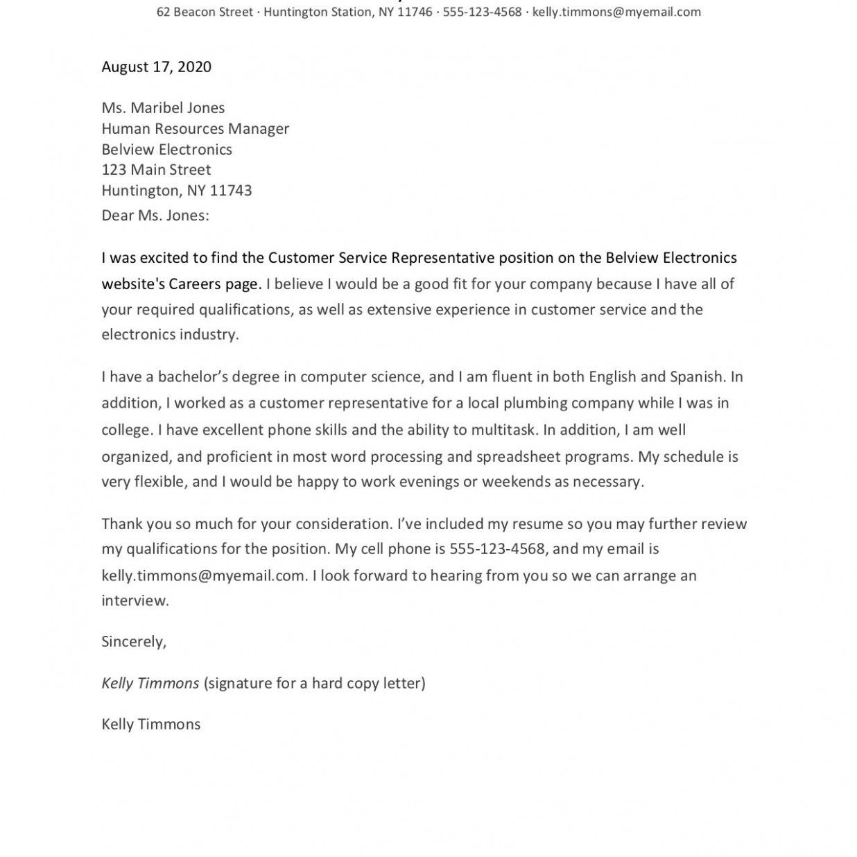 Second Paragraph Of Cover Letter Examples in 27  Cover letter