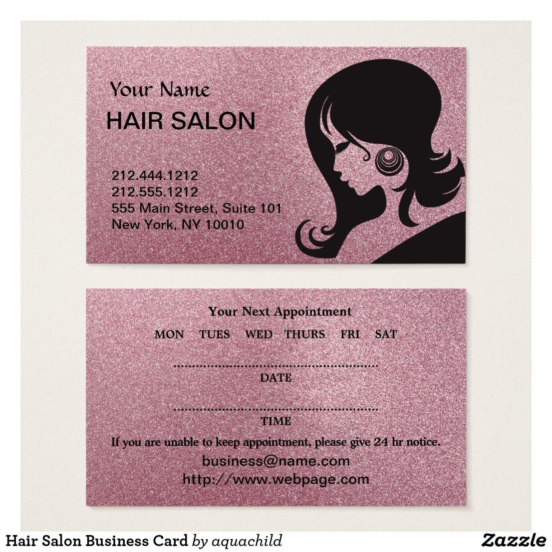 Hair Salon Business Card Salon Business Cards Beauty Business Cards Hair Salon Business