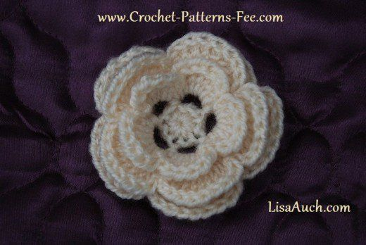 Free Crochet Flower Patterns Layering Flower And Crochet