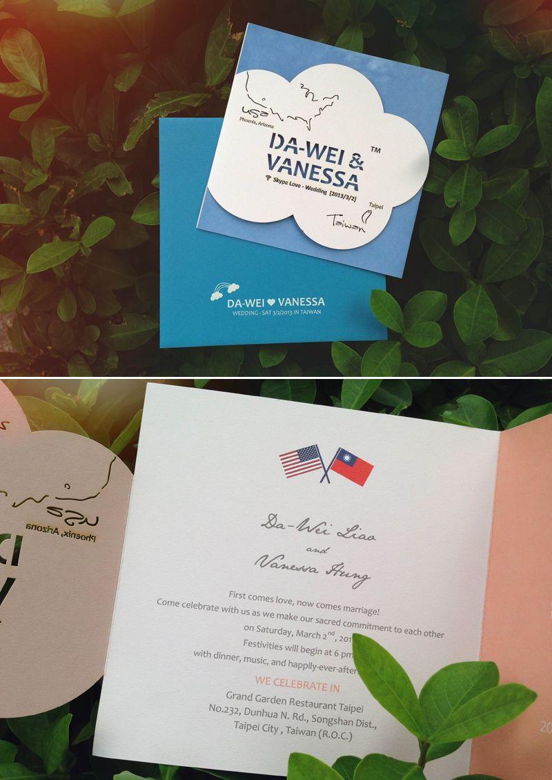 Skype 遠距離愛情主題婚卡 Invitation Cards Invitations Wedding