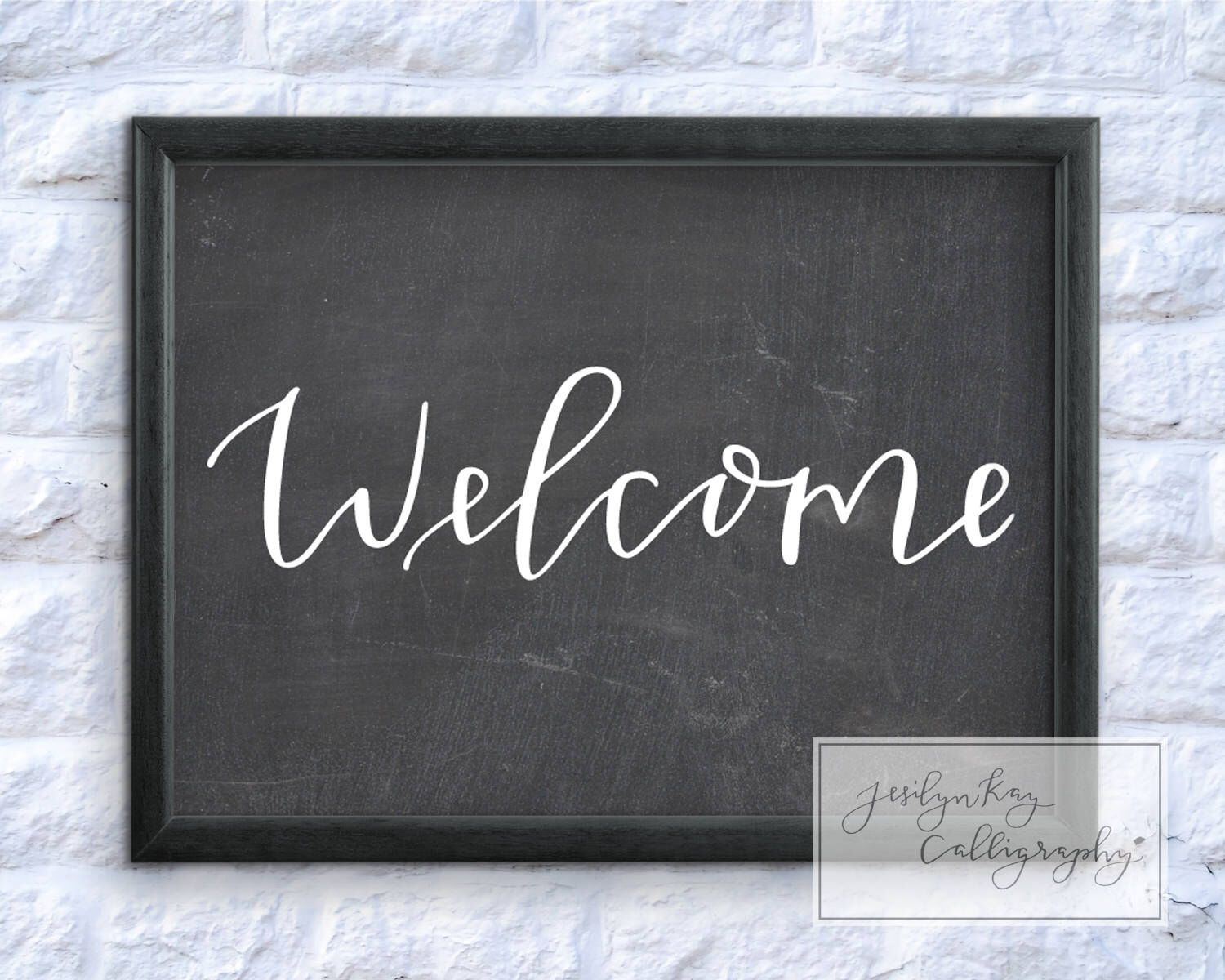Downloadable Chalkboard Party Welcome Sign