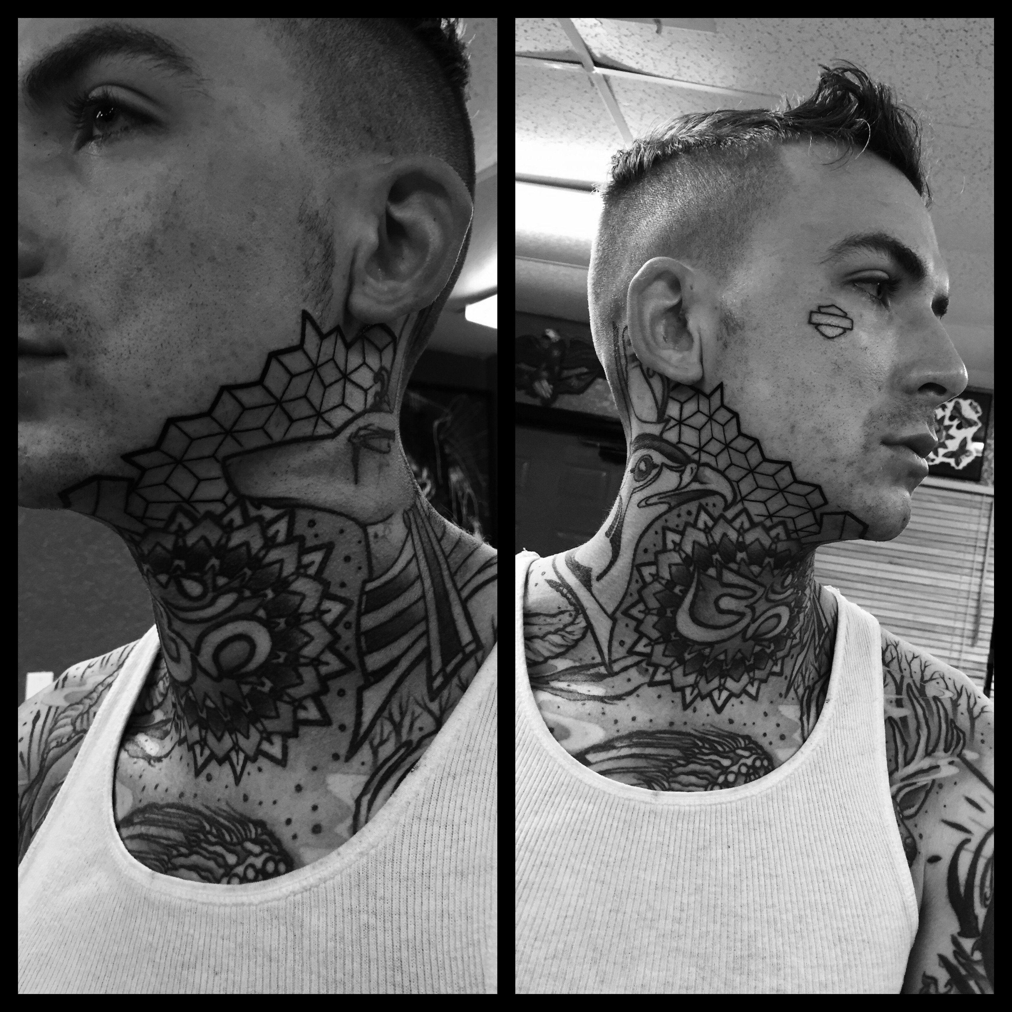 Jaw Line Tattoos: Geometric Jawline Tattoo - Google Search