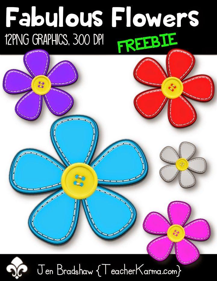 Freebie Fabulous Flowers Clip Art Clip Art Freebies Clip Art Free Clip Art