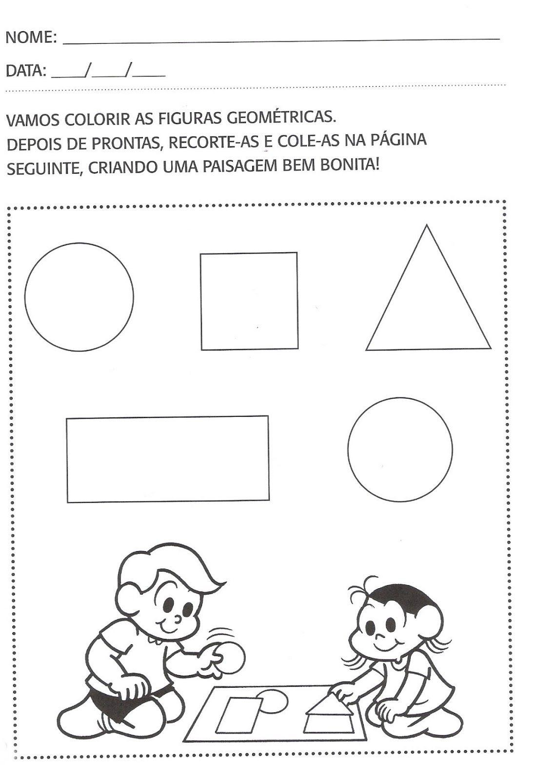 Well-known Pin de Cristina Luiz em brincando do figuras geométricas  WW69