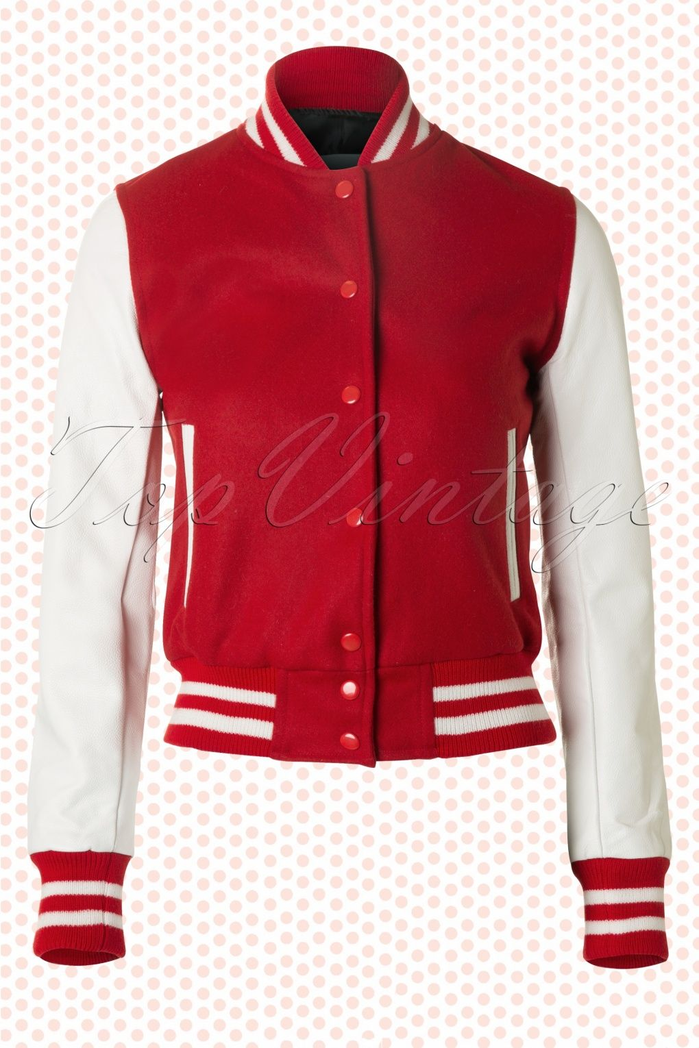 The Seamstress of Bloomsbury - College Jacket in Red