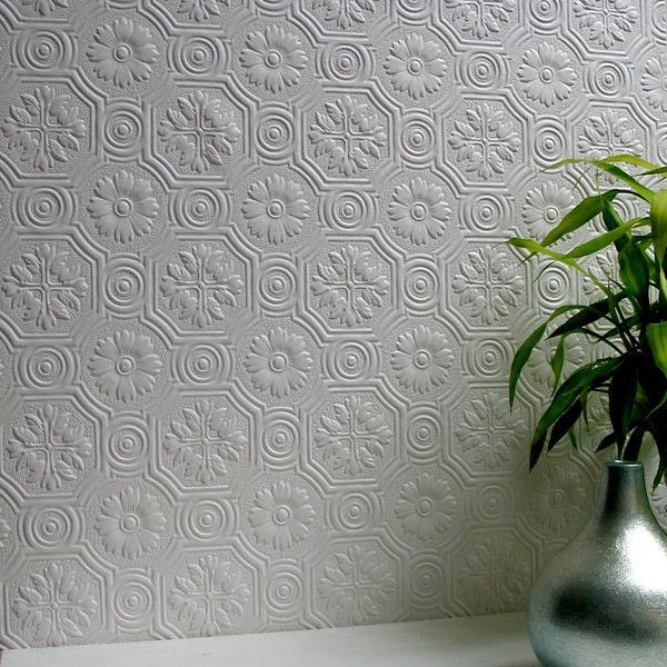 Spencer Paintable Supaglypta Wallpaper design by Brewster Home
