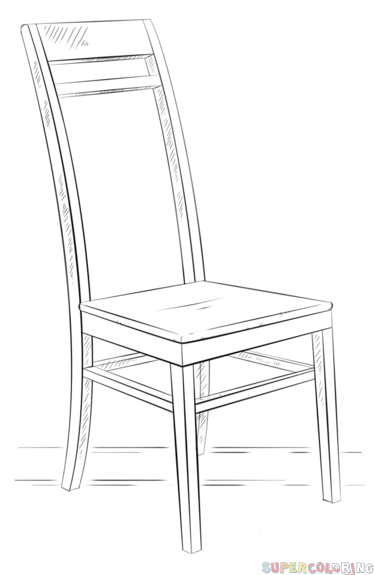 How To Draw A Chair Step By Step Drawing Tutorials For Kids And Beginners Drawing Furniture Drawing Tutorial Step By Step Drawing